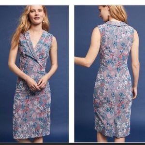 Anthropologie |• Maeve Jacquard Lilac Floral Dress